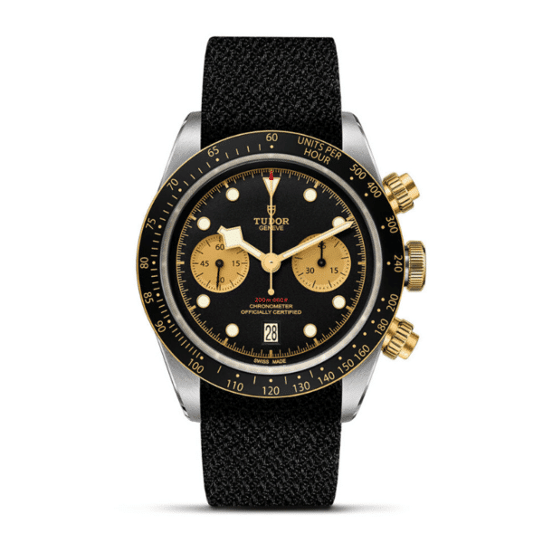 Black Bay Chrono Steel & Gold in Fabric strap