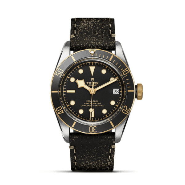 BLACK BAY Steel and Yellow Gold in leather