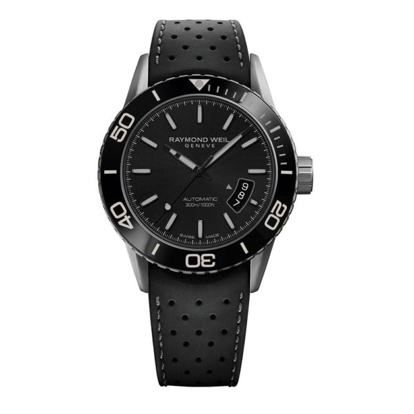 Raymond Weil - FREELANCER GENTS STEEL BLACK, LEATHER ST