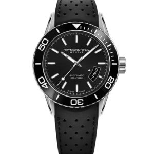 Raymond Weil - FREELANCER ST RUB STR BLK DIAL