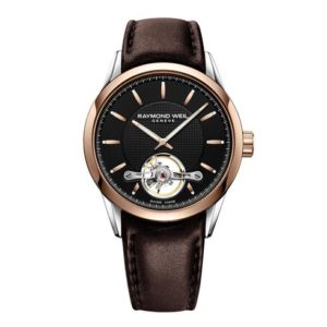 Raymond Weil - FREELANCER GENTS STEEL/RG BLK DI, STRAP