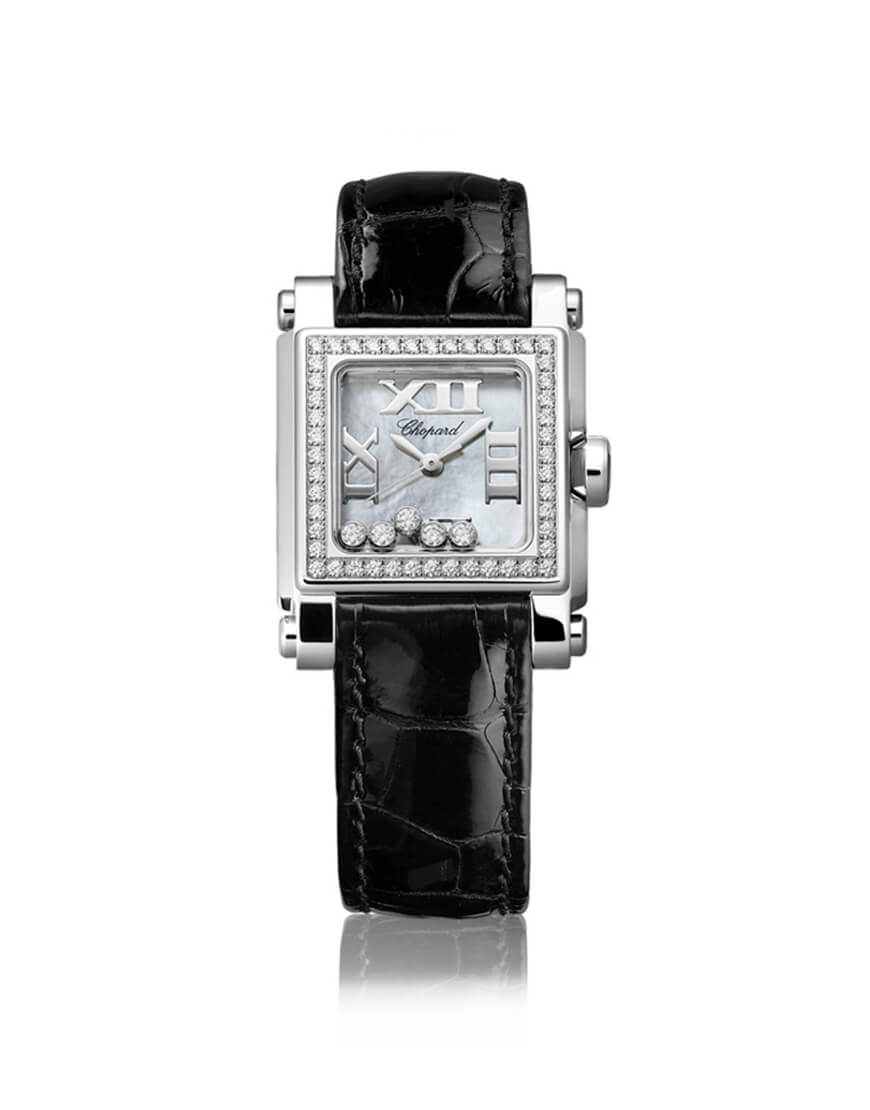Chopard - HAPPY SPORT SQ 5BR ST/WG DIAMS