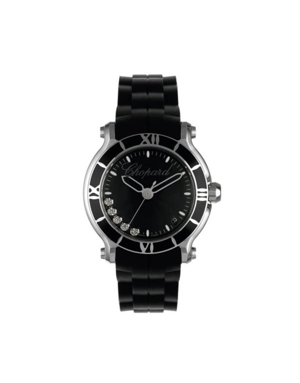 Chopard - HAPPY SPORT STEEL 5BR BLACK G
