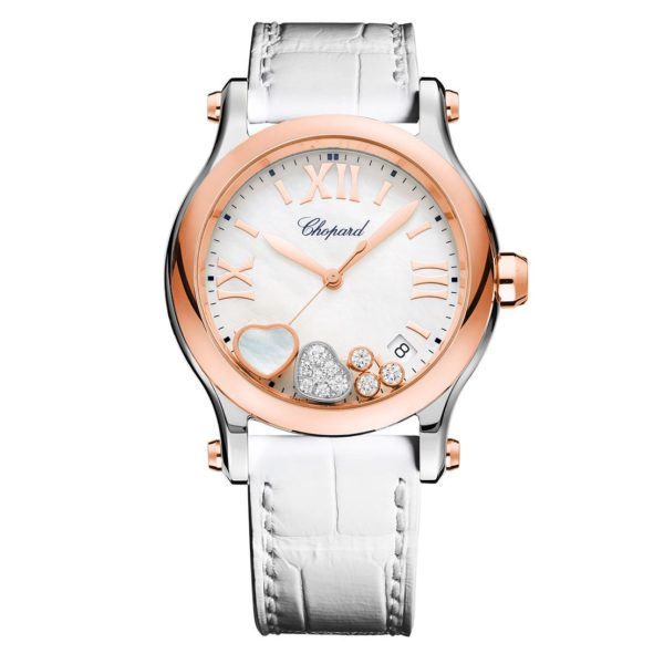 Chopard - HAPPY SPORT QTZ RG/ST MOP DIAL MOV HEART