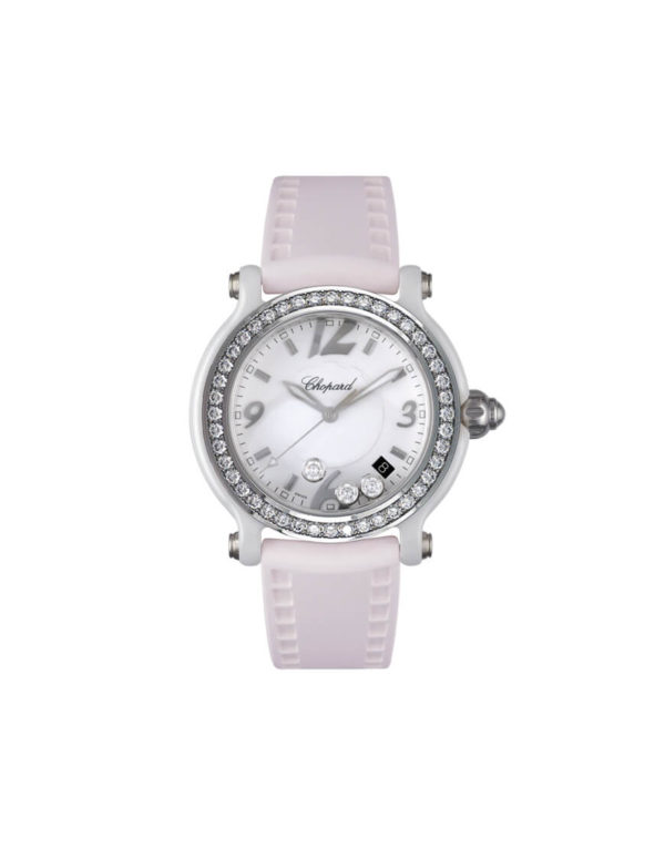Chopard - HAPPY SPORT WHITE CERAMIC DIAM