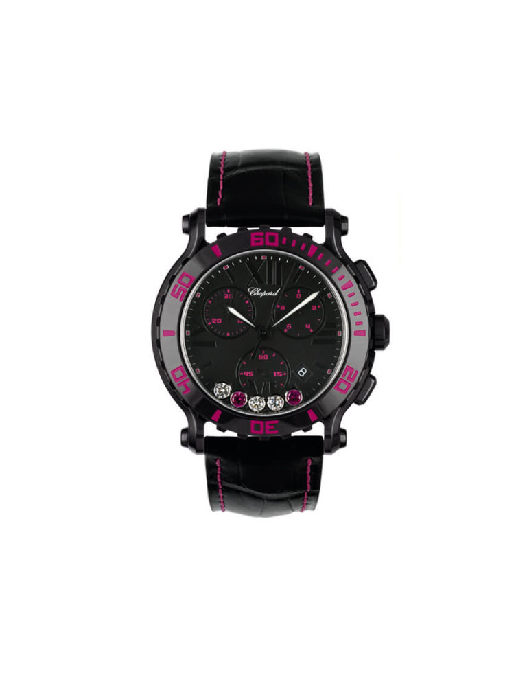 Chopard - HAPPY SPORT CHR CER BLACK