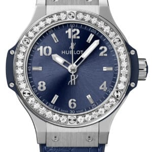 Hublot - BIG BANG 38 QU ST BLUE SUNRAY - DIAM BEZ