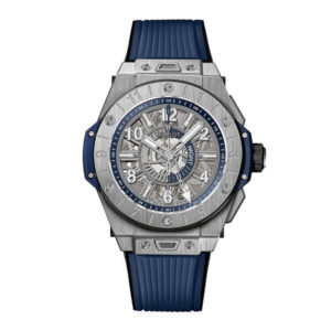 Hublot - BB 45 AUTO GMT TI BLUE SKELETON