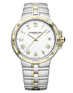 Raymond Weil - PARSIFAL GENTS ST/YG 41MM WHITE ROMAN