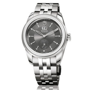 Tudor - DOUBLE DATE 42 ST SILVER INDEX