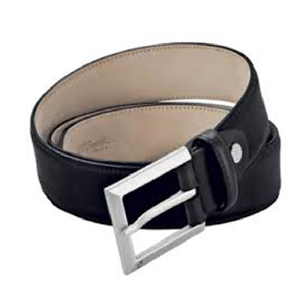 Dupont - BELT BLACK/ BRUSHED METAL BUCK