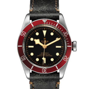 Tudor - BLACK BAY 41  RED BEZEL ST CALF