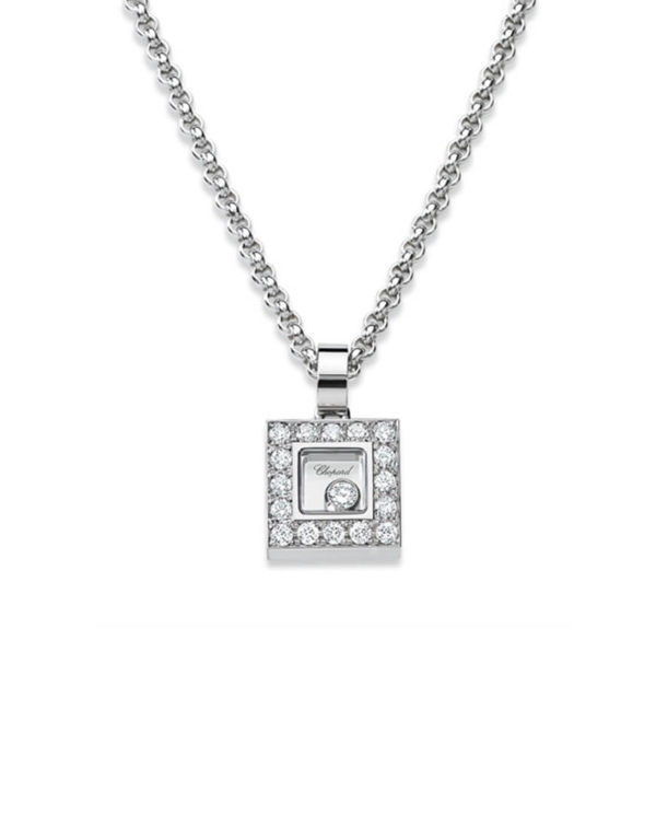 Chopard - HAPPY DIAMOND SQ WG DIAM PEND