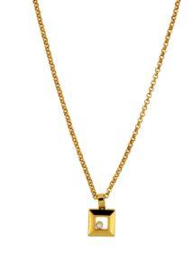 Chopard - HAPPY DIAMONDS SQ YG PENDANT 1MOV DI