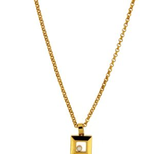Chopard - HAPPY DIAMONDS SQ YG PENDANT 1MOV DI