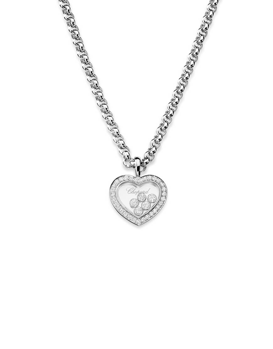 Chopard - HAPPY DIAMONDS HEART WG 5 DIAM