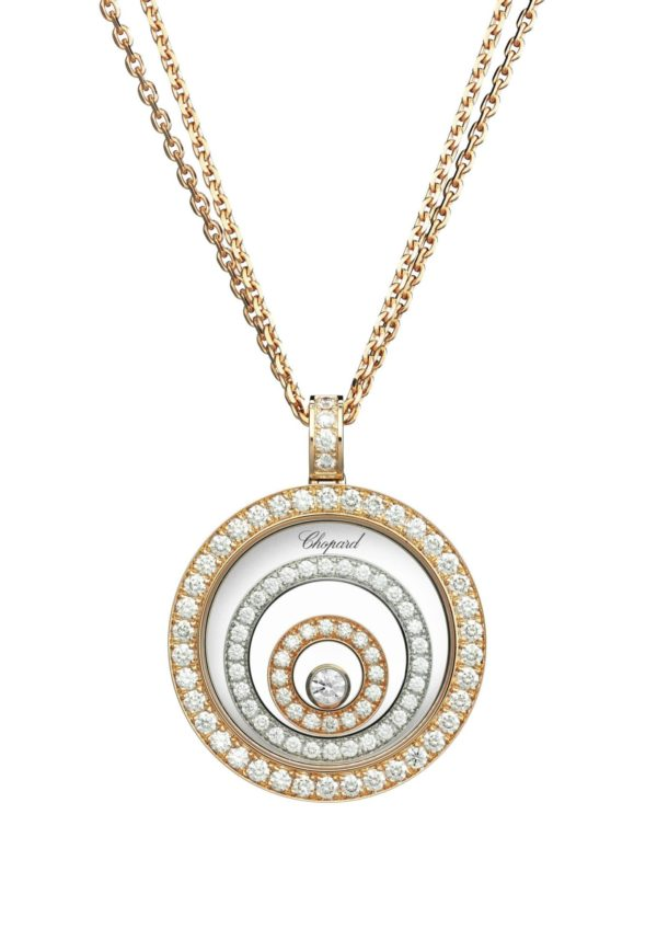 Chopard - HAPPY SPIRIT PEND WG/RG DIAMONDS