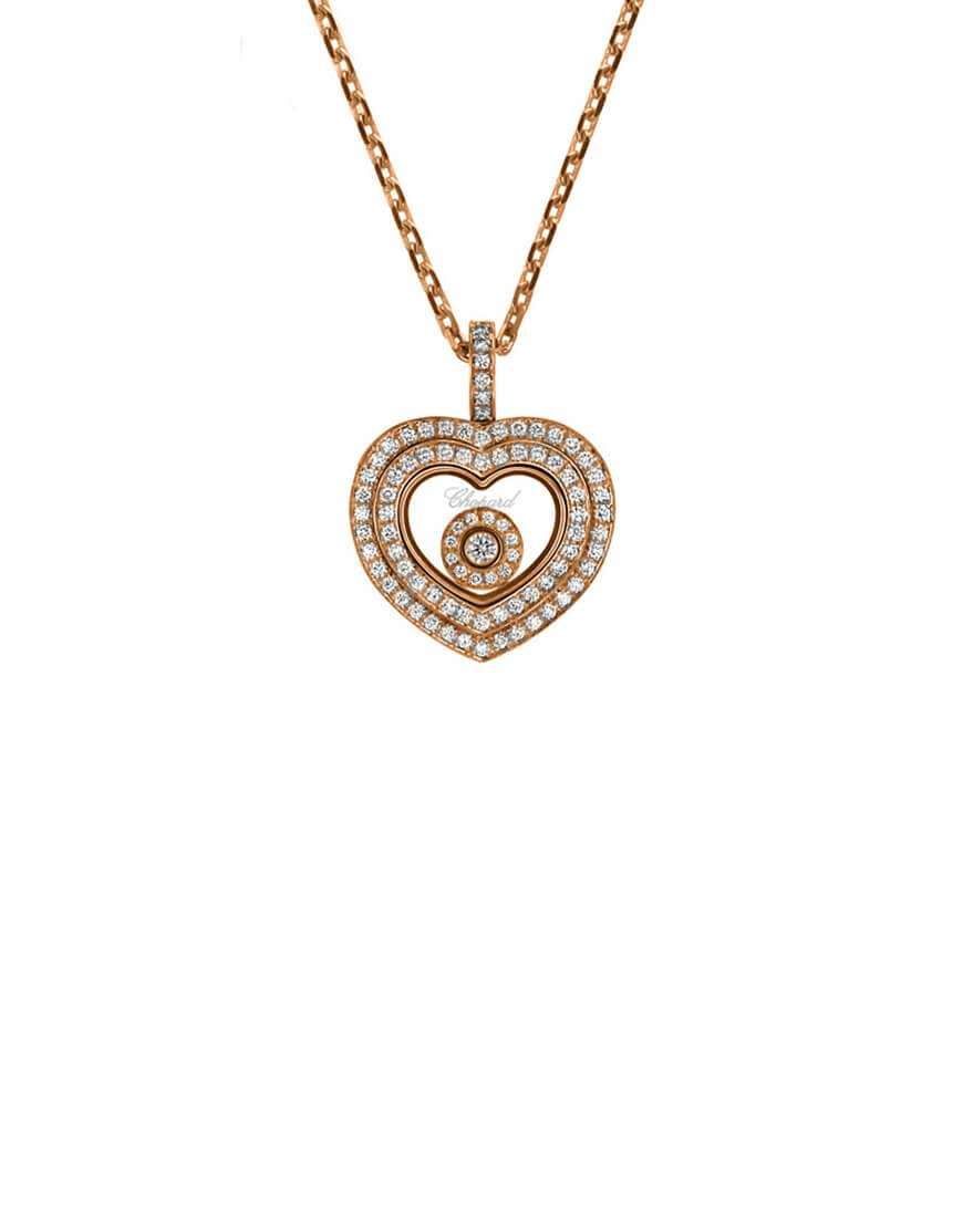 Chopard - HAPPY DIAM PEND HEART RG & BR