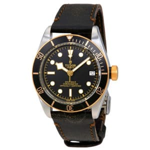 Tudor - BLACK BAY ST/YG CALF LEATHER