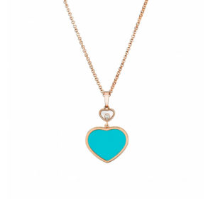 Chopard - HAPPY DIAMONDS HEART PENDNT RG TURQOUISE
