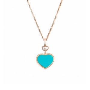Chopard - HAPPY DIAMONDS HEART PENDNT RG TURQOUISE