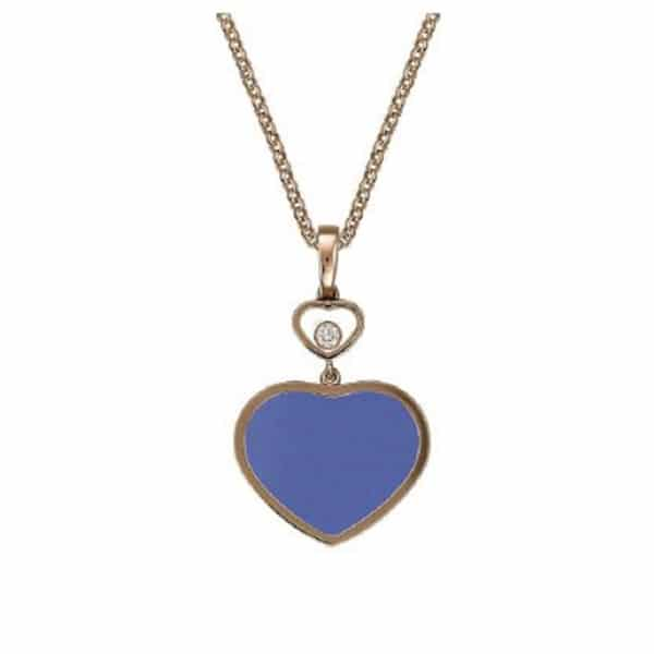 Chopard - PENDANT HAPPY HEARTS 1MOV DI LAPISLAZULI