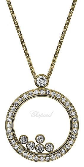 Chopard - PENDANT HAPPY DIAMONDS YG 37DIAM 5 MOV