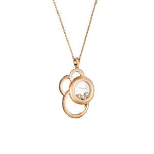 Chopard - HAPPY DIAMONDS PENDANT 3BR RG