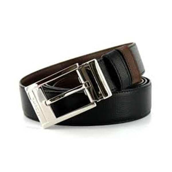 Dupont - BELT LEATHER REVERSE BLK/BRN