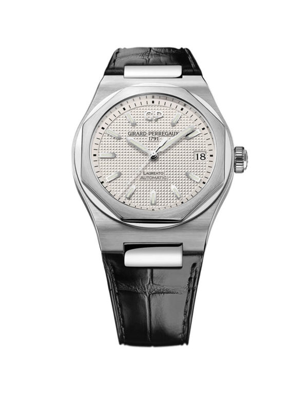Girard-perregau - LAUREATO 42MM ST ALLIG STR
