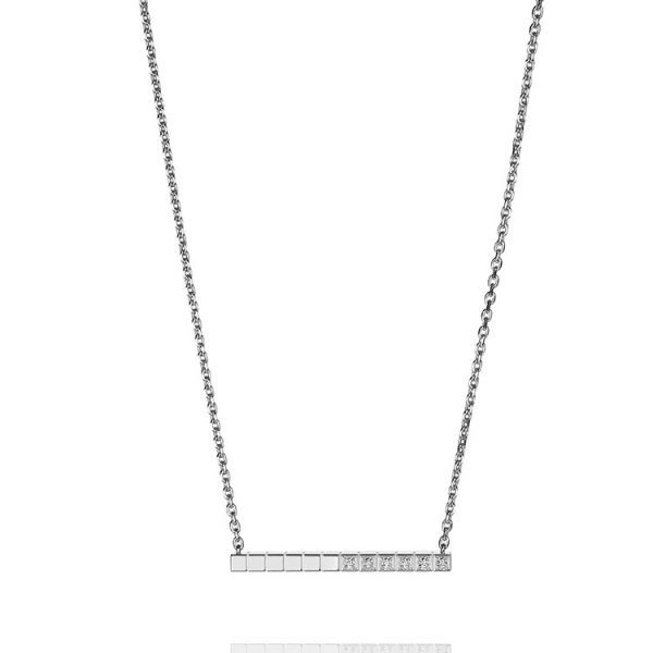 Chopard - ICE CUBE PURE NECKLACE WG 6 DIAMS