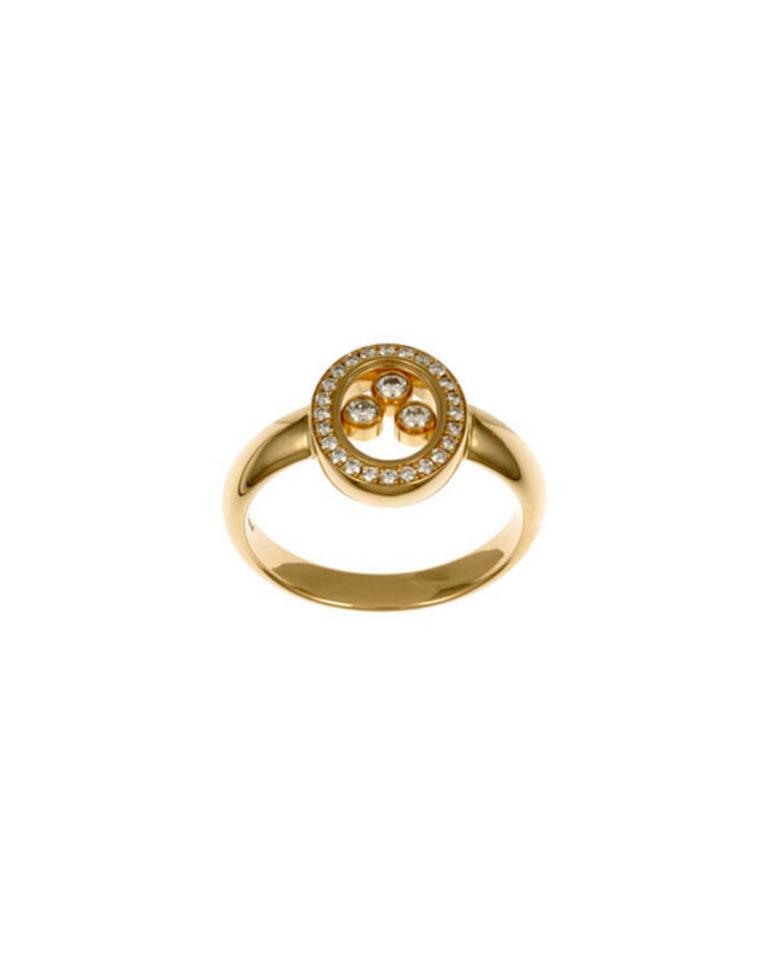Chopard - HAPPY DIAMOND YG OVAL RING