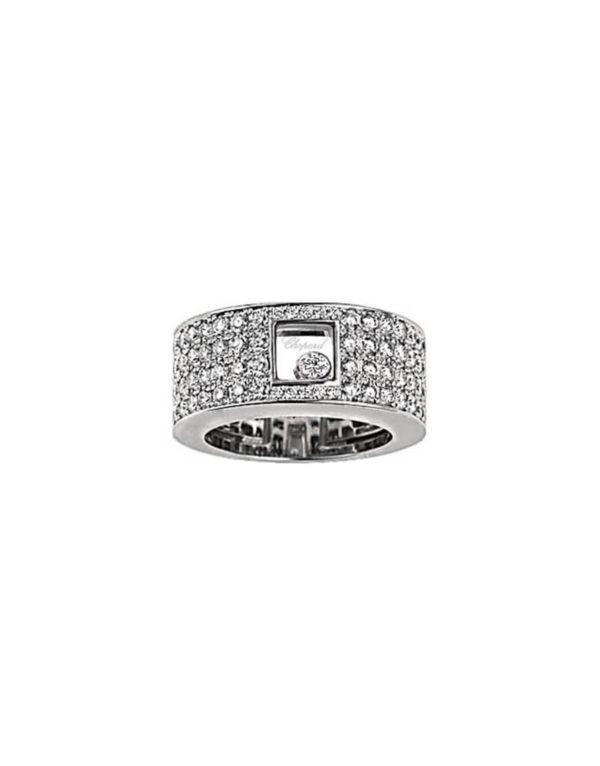 Chopard - HAPPY DIAMOND WG RING PAVE DIA
