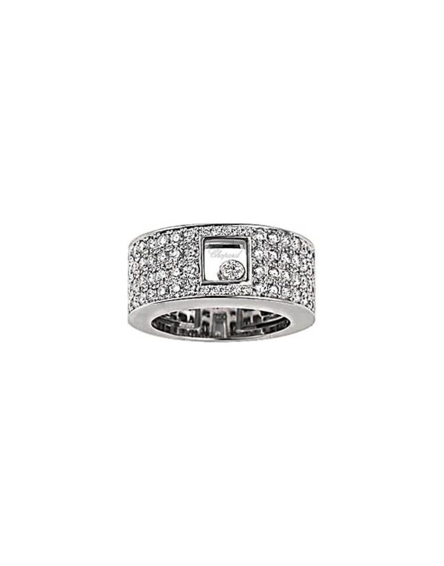 Chopard - HAPPY DIAMOND WG RING PAVE DIA