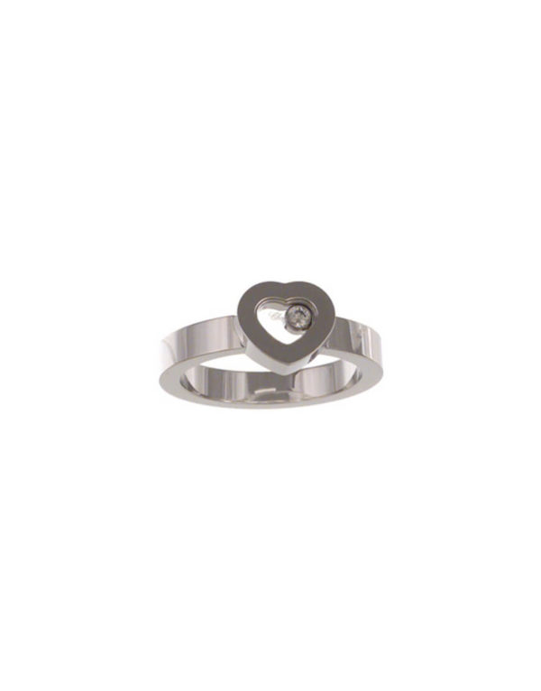 Chopard - HAPPY DIAM RING HEART 1BR WG