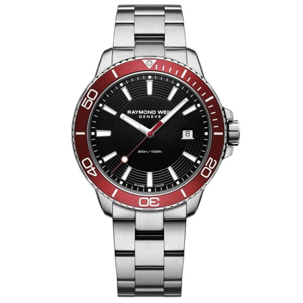 Raymond Weil - TANGO GENTS BLACK DIAL RED BEZEL