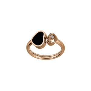 Chopard - HAPPY HEARTS RING RG ONYX INLAY