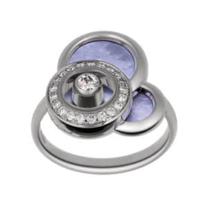 Chopard - HAPPY DIAMONDS RING WG MOP