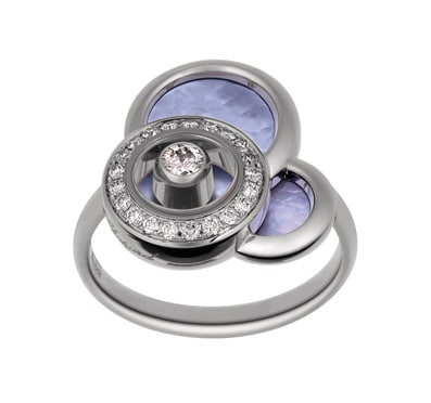 Chopard - HAPPY DIAMONDS RING WG MOP