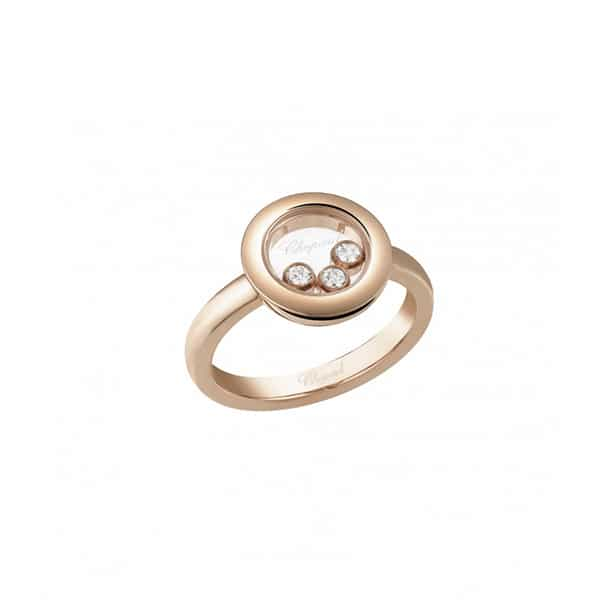 HAPPY DIAMONDS RING ROSE GOLD 82A018-5113