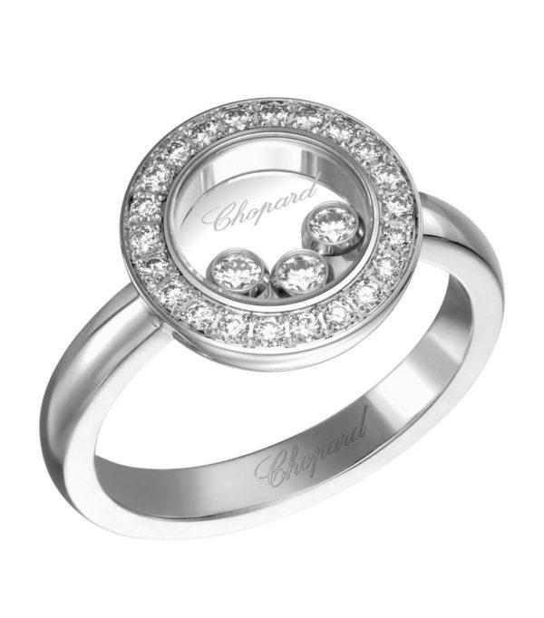Chopard - RING HAPPY DIAMONDS WG 22DI 3 MOV SZ 54