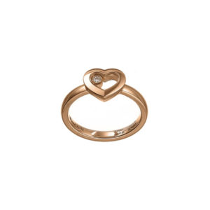 Chopard - HAPPY DIAMONDS RING ROSE GOLD 1 MOV DIAM