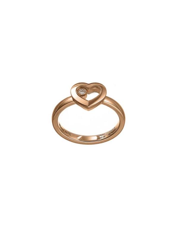 Chopard - HAPPY DIAMONDS RING ROSE GOLD 1 MOV DIAM