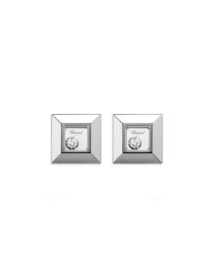 Chopard - HAPPY DIAMOND SQ WG EARRINGS