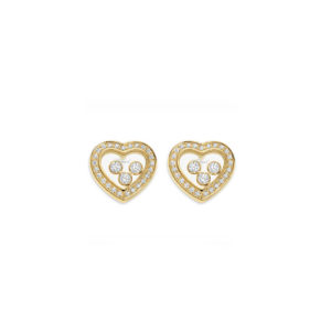 Chopard - HAPPY DIAM YG EARRINGS HRT DIA