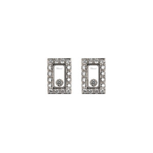 Chopard - HAPPY DIAMOND EARRINGS WG RECT