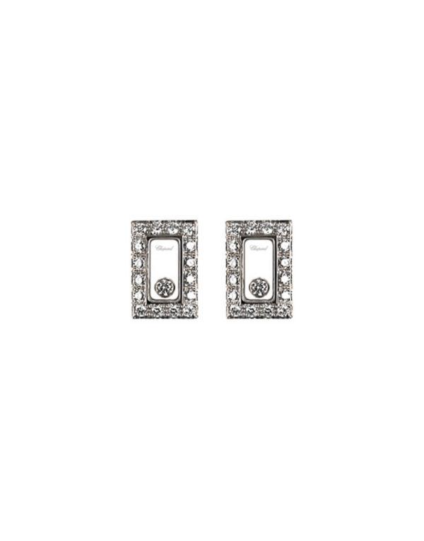 Chopard - HAPPY DIAMOND EARRINGS WG RECT