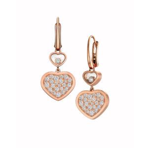 Chopard - HAPPY DIAMONDS HEART EARRINGS RG