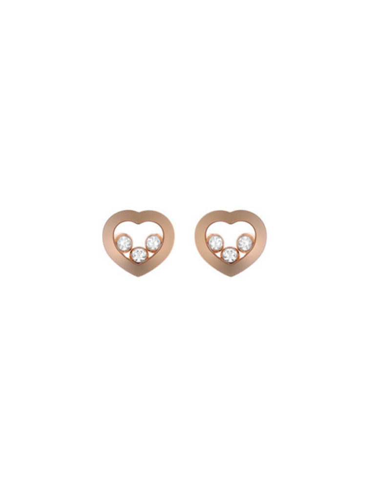 Chopard - HAPPY DIAMOND EARRINGS RG 6BR