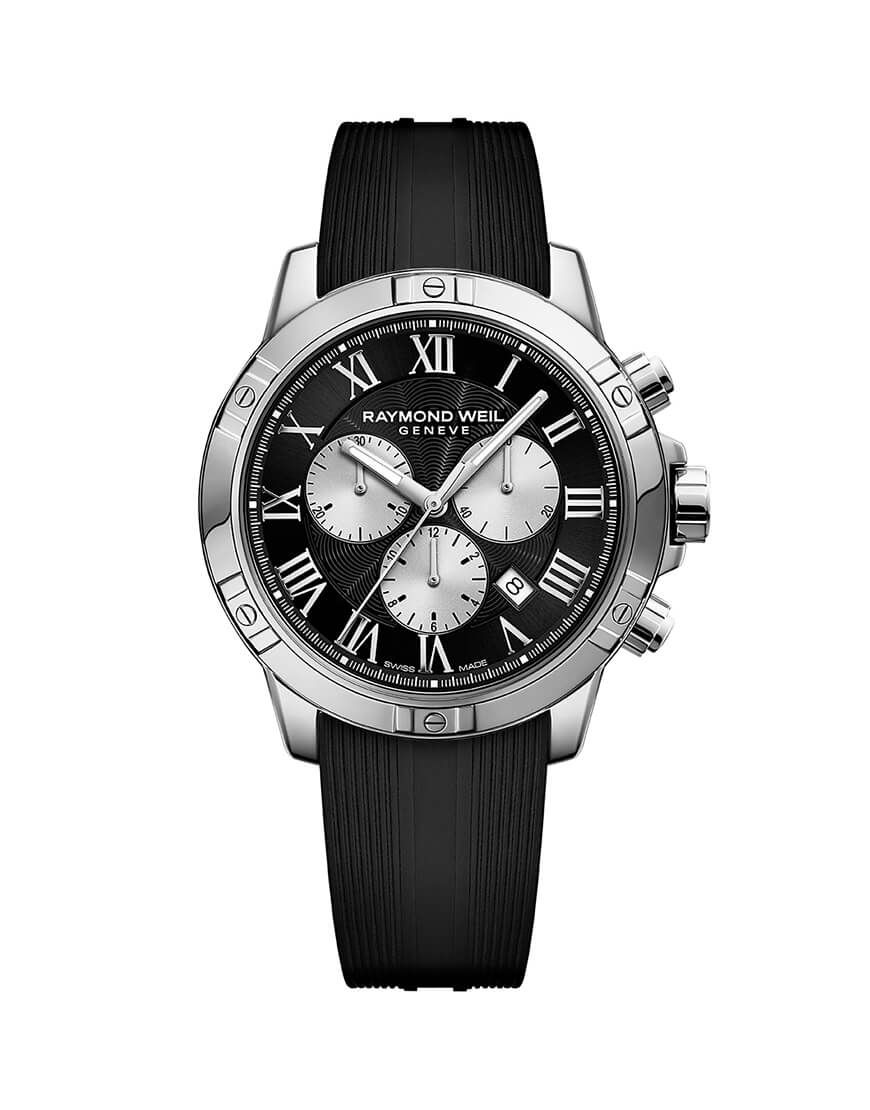 Raymond Weil - TANGO GENTS CHRONO BLACK DIAL, RUB STR